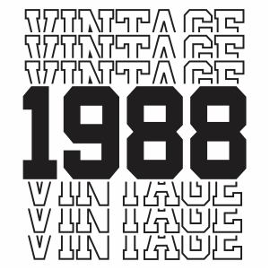 Vintage 1988 32th Birthday vector