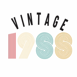 Vintage 1988 svg