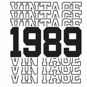 Vintage 1989 31th Birthday vector