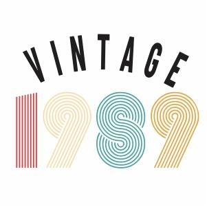 Vintage 1989 svg
