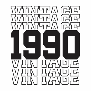Vintage 1990 30th Birthday vector
