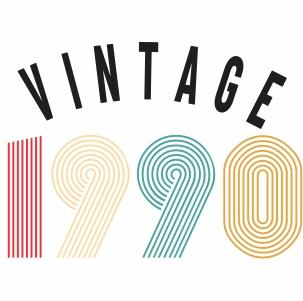 Vintage 1990 svg