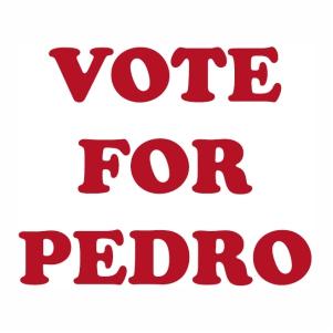 Vote for pedro logo Vector