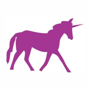 Unicorn Walk Horse vector