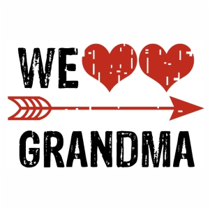 We love Grandma logo svg