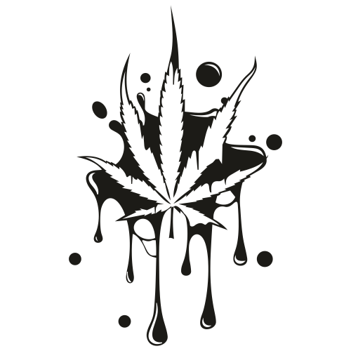 Dripping Cannabis Leaf Svg