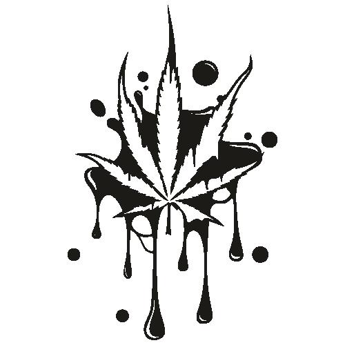Dripping Cannabis Leaf Svg