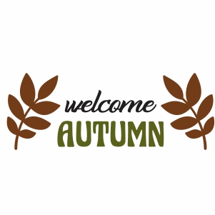 Welcome Autumn Clipart