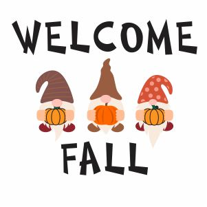 Welcome Fall Gnomes Svg