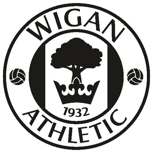 Wigan Athletic FC Black Svg
