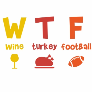 Wine Turkey Football Svg