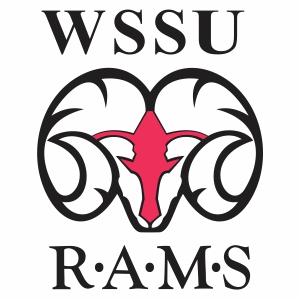 winston salem state rams foodball logo vector file