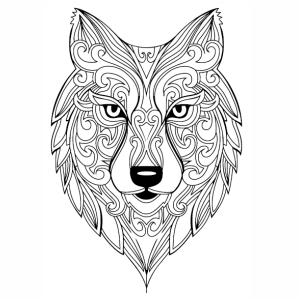 Wolf Mandala Vector Image Wolf Mandala Png Download