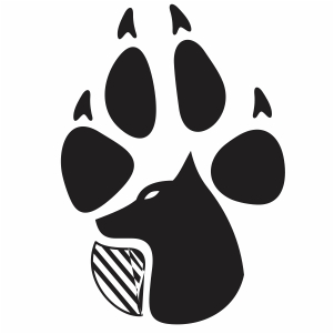 Wolf Paw Vector