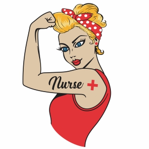Woman Power Nurse vector file