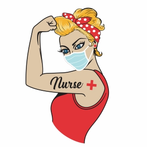 Rosie the Riveter with mask vector file
