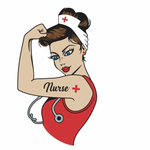 Rosie the Riveter nurse vector file