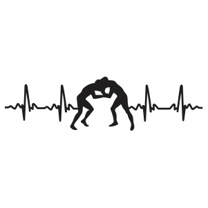 Wrestling Heartbeat Svg
