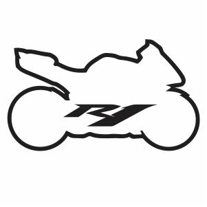 Yamaha Bike R1 vector file