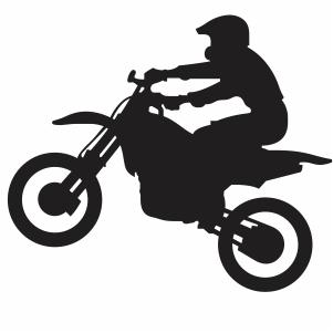 Yamaha Bike riding svg cut