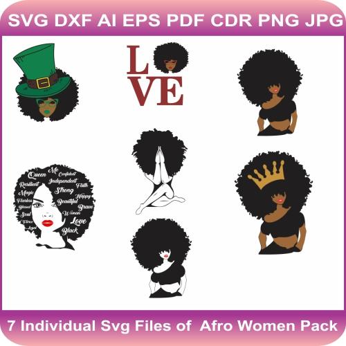Afro women bundle Svg