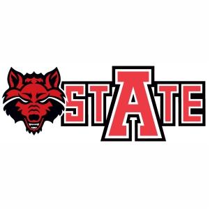 Arkansas State Red Wolves logo vector image