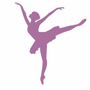 Ballet Dancer Posing Svg