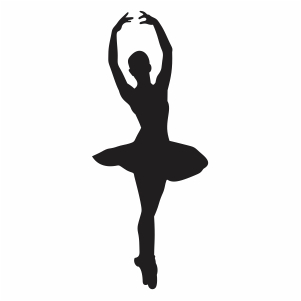 Ballerina Dance Pose Vector