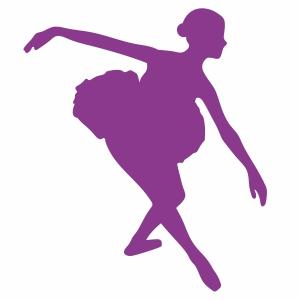 Ballerina dancer posture skirt vector