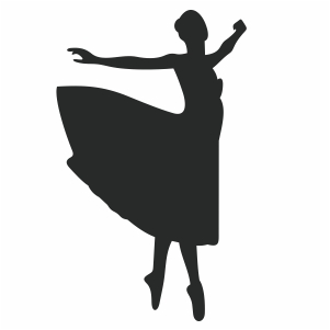 Ballerina Dancer Pose Svg