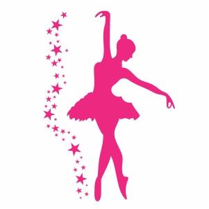 Ballet Dancer Open Arms Pose Vector