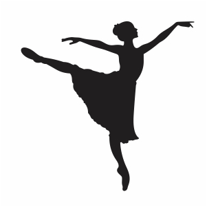 Girl Ballet Dancer Svg
