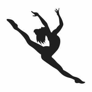 Ballet Dancer Jumping Svg