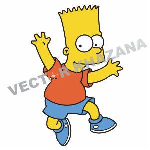 Funny Bart Simpson Vector Logo