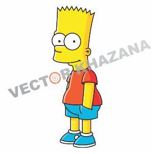 Bart Simpson Cartoon Vector Logo