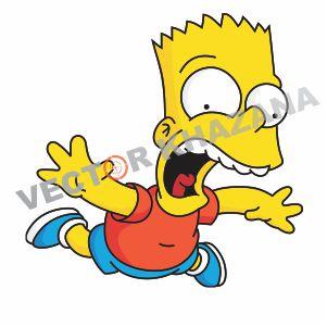 Funny Bart Simpson Logo Vector
