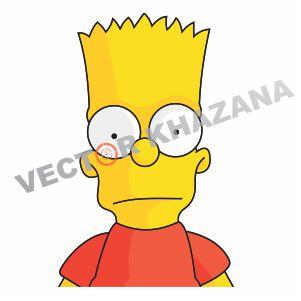 Bart Simpson Cartoon Logo Vector