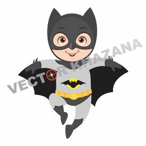 Baby Batman Vector