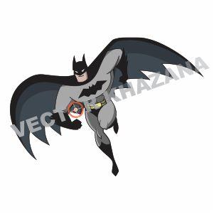 Batman Flying Vector