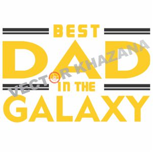 Free Best Dad In The Galaxy Logo Svg