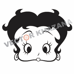 Betty Boop Face Logo Vector