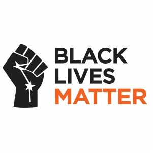 Black Lives Matter Fist Logo Vector