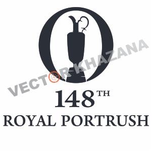148th Royal Portrush Logo Vector