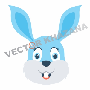 Funny Bunny Logo Vector