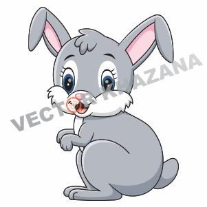 Bunny Rabbit Logo Vector
