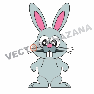 Bunny Cartoon Logo Vector