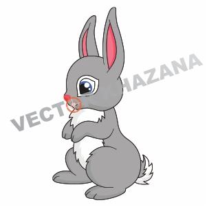 Sad Bunny Logo Vector