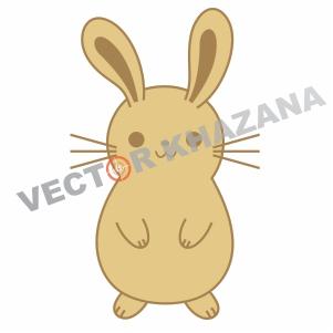 Simple Bunny Logo Vector
