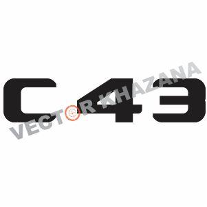 Mercedes C 43 Logo Vector