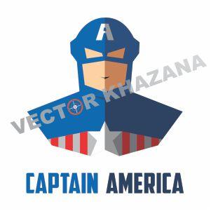Captain America Superhero Vector